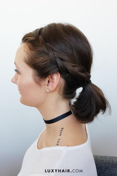 Best Hairstyles For Short Hair Short Hair Ponytail Cute Hairstyles For Short Hair Medium Length Hair Styles