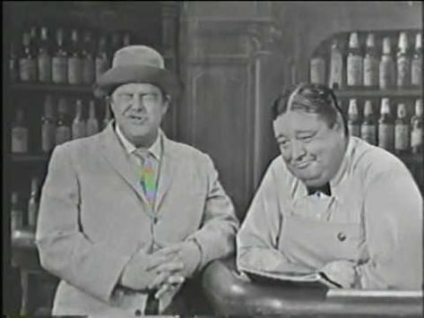 """From: TV's """"American Scene Magazine"""" -Crazy Guggenheim, The Jackie Gleason Show - Craz was hilarious and Gleason as the bartender struggled to keep a straight face Great Tv Shows, Old Tv Shows, Movies And Tv Shows, Classic Tv, Classic Movies, Jackie Gleason, Star Trek Images, Vintage Television, Comedy Tv"""