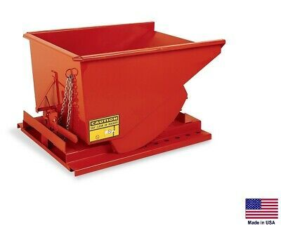 Forklift Hopper Dumpster Commercial Self Dumping 1 2 Cy 2000 Lb Cap Mdo Ebay In 2020 Forklift Heavy Equipment Dumpster