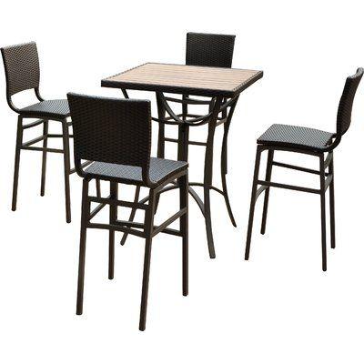 Katzer 5 Piece Bar Height Dining Set
