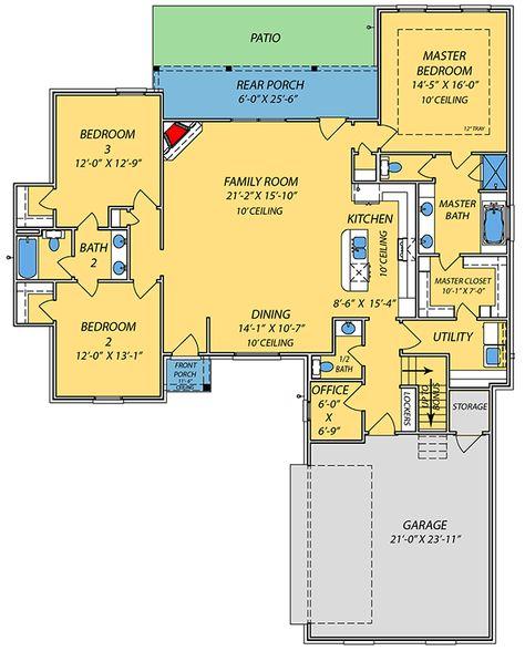 38 Ideas House Plans With Bonus Room Above Garage Bathroom