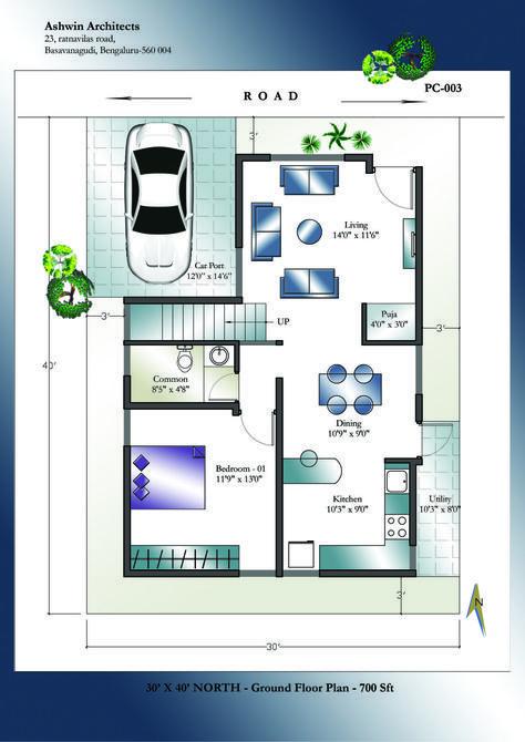 Sample North Facing 30 X 40 House Plans North Facing House Indian House Plans 30x40 House Plans