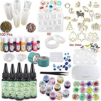 Epoxy Resin Uv Glue Kit Crystal Clear Transparent With Lamp