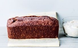 Buckwheat Banana Cake With Yogurt Espresso Frosting Recipe Epicurious Com In 2020 Frosting Recipes Banana Cake Espresso Frosting Recipe