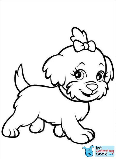 Puppy Coloring Pages Dog Stencil Dog Coloring Page Within Free Download Printable Puppie Is Watc Puppy Coloring Pages Dog Coloring Page Animal Coloring Pages