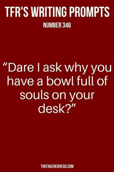 #blogtober: write from a prompt. Bowl full of souls