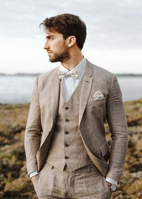 New Free Costs Wedding Suits Men Brown Vintage Groom Super Ideas Strateg . - New No Costs Wedding Suits Men Brown Vintage Groom Super Ideas Strategies A great way to test i - Brown Suit Wedding, Linen Wedding Suit, Vintage Wedding Suits, Vintage Groom, Wedding Linens, Men Wedding Suits, Groomsmen Wedding Attire, Mens Outdoor Wedding Attire, Grey Tweed Wedding Suit