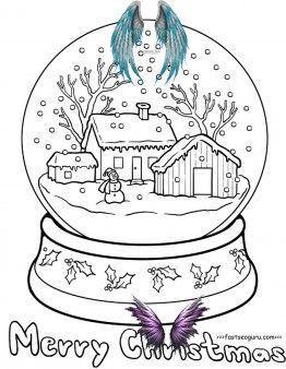 Printable Christmas Snow Globe Coloring Pages For Kids Free Printable Coloring Pages For Kids Printable Christmas S I 2020 Malarbocker For Vuxna Snoglob Malarbocker