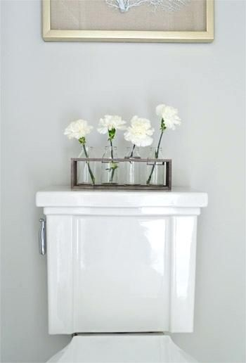 Back Of Toilet Decor Toilet Tank Top Decorations Home Decorating Ideas Young House Love Bathroom Flowers Home Decor