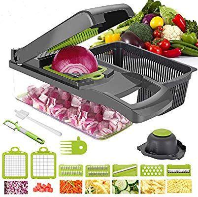 Vegetable Chopper Food Onion Cutter Manual Veggie Slicer Dicer Fruit Kitchen