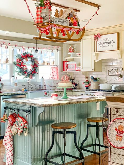 Welcome to our Gingerbread Kitchen!Christmas is such a wonderful time of year, full of so much nostalgia. This year, I chose a baking theme because some of my favorite holiday. Christmas Kitchen, Cozy Christmas, Retro Christmas, Country Christmas, All Things Christmas, Xmas, Christmas Poster, Christmas Makeup, White Christmas