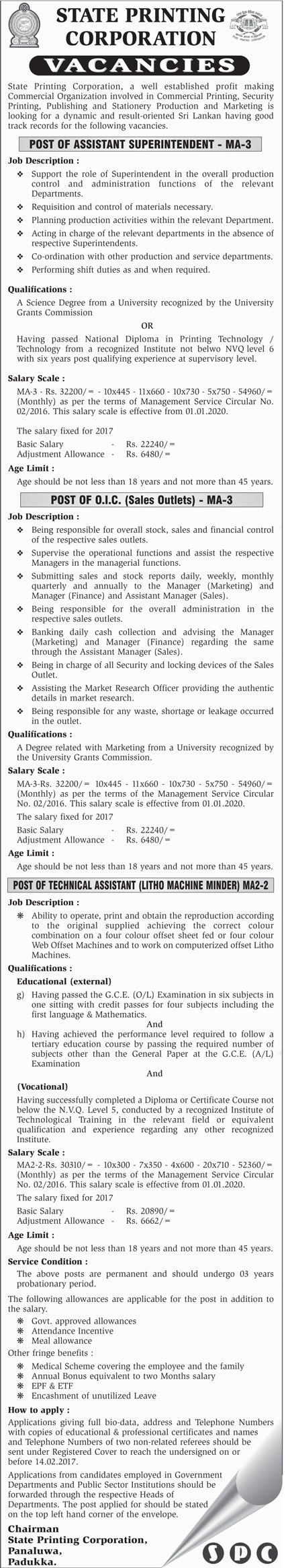 Vacancies at Ministry of Plantation Industries | Career First ...