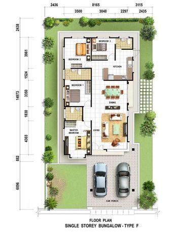 Simple Plan Single Storey Denah Rumah Rumah Indah Denah Lantai Rumah