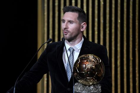 Messi won the best footballer award for the sixth time