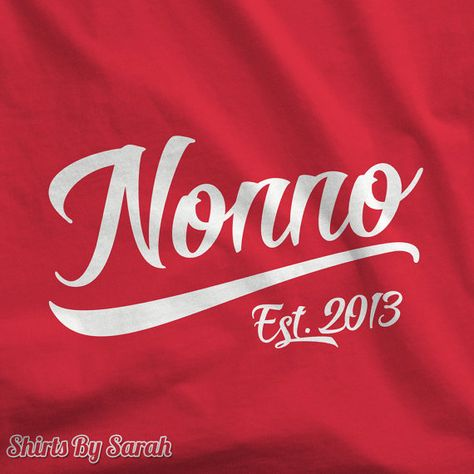 Personalized Nonno Shirt - Grandparents Day T-Shirt Est. Year Custom Papa Grandfather Men New Baby