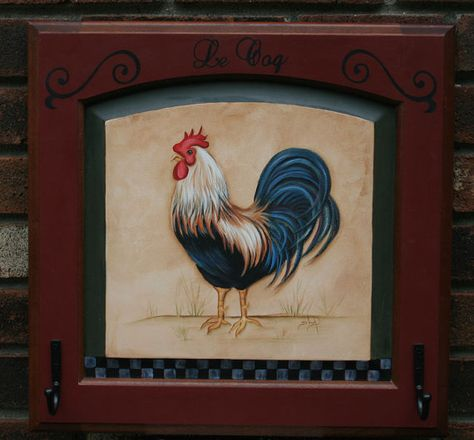 OOAK French Country Rooster on a Recycled Cabinet by JCandmeArt, $54.95