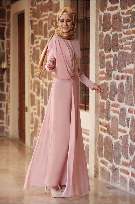 Zenn Tulum Pudra Rana Zen Tesettur Abiye Modelleri 2020 Tesettur Abiye Modelleri 2020 Moda Stilleri Musluman Elbisesi Basortusu Modasi