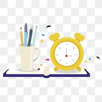 المنبه حقيبة مدرسية قلم رصاص مرسومة باليد حقيبة مدرسية Clipart توضيح كرتون Png والمتجهات للتحميل مجانا Alarm Clock Clock Hand Painted