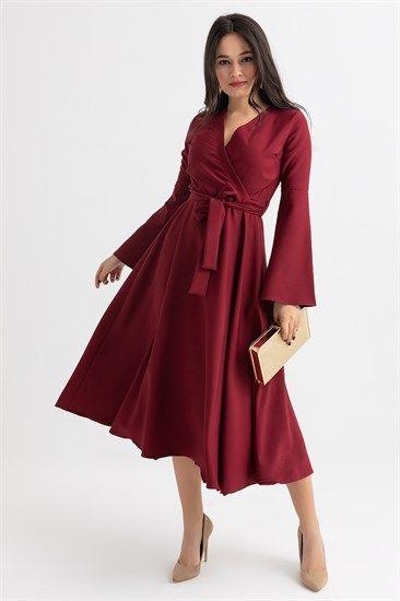 Basic Elbiseler Deniz Butik Midi Elbise Elbiseler Elbise Modelleri
