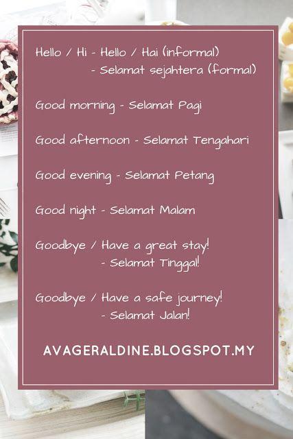 Malay Language Malaysia Bahasa Melayu Malay Language Indonesian Language Learn English Words