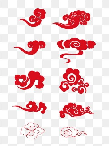 Chinese Style Traditional Red Auspicious Cloud Pattern Festive Shading Classical Chinese Style Traditional Red Auspicious Cloud Pattern Festive Shading Classic Chinese Patterns Clouds Pattern Pattern