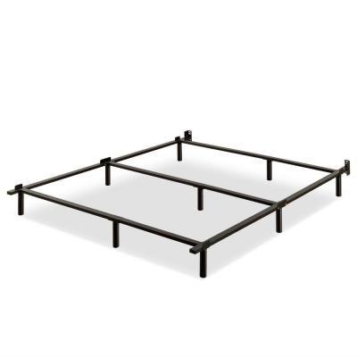 Zinus Paige Black Twin Full Queen Metal Compack Adjustable Bed