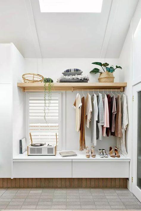 Open Closet In Bedroom Small Spaces Shelves 43 Ideas Bedroom Closet Ideas Open Shelve In 2020 Small Closet Space Closet Ideas For Small Spaces Bedroom Open Closet