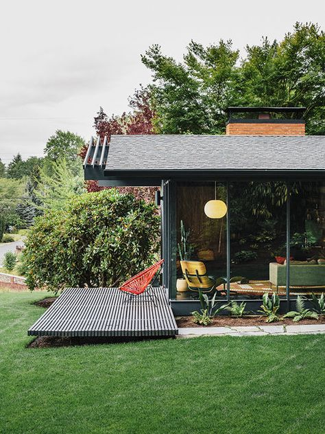 Articles about midcentury renovation portland capitalizes nature seven doors outside on Dwell.com