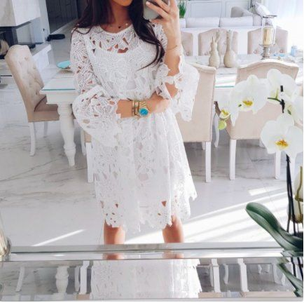 Sukienka Gipiura Hit Ala Natalia Siwiec Lato S M 7373672809 Oficjalne Archiwum Allegro Dresses Fashion Graduation Dress