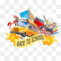 Back to school vector. Bus clipart png and
