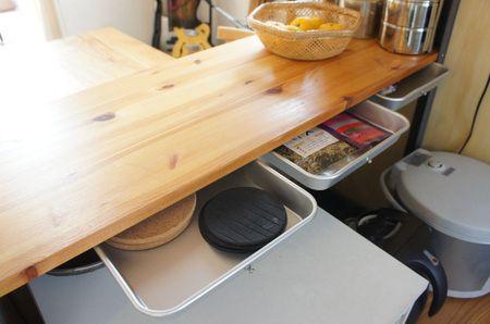 食器棚の引出し diy 収納 アイデア インテリアアイデア 食器棚