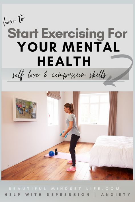 Why exercising for our mental health (healthier inside) is more effective for long term results for getting healthier inside & out. Tips from my own journey to overcome and heal depression and anxiety. | Beautiful Mindset Life | #beginnerexercise #mentalhealth #healthierhabits #healthymind #diet
