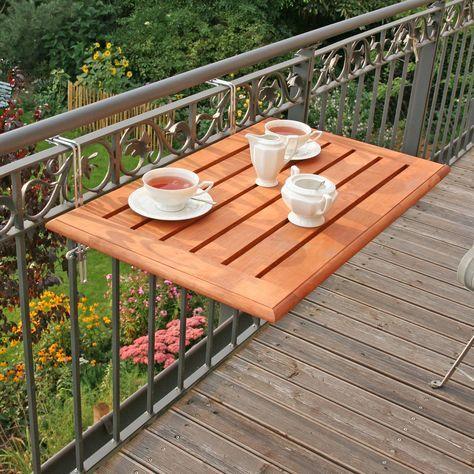 Balkonklapptisch Bambusholz 50 X 80cm Mit Bildern Balkontisch Wohnung Balkon Dekoration Balkon