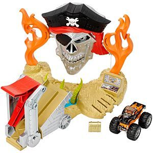 Check Out The Hot Wheels Monster Jam Pirate Takedown Play Set Djk63 At The Official Hot Wheels Website Expl Hot Wheels Monster Jam Monster Jam Hot Wheels