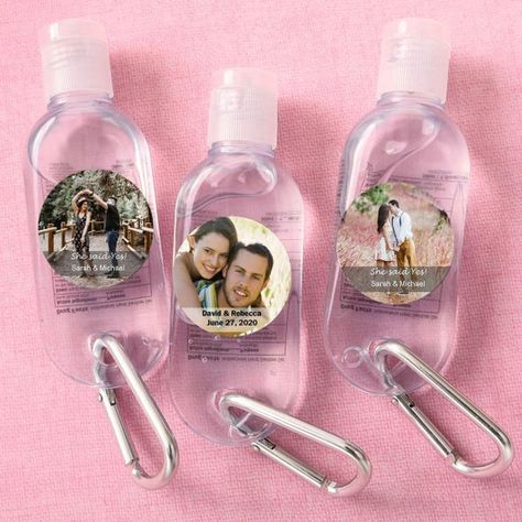 40 200 Personalized Custom Photo Hand Sanitizer In A Clear Plastic