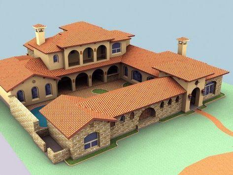9 Modern Spanish Home Designs For Elegant Properties Interior Design Courtyard House Plans Hacienda Style Homes Spanish Style Homes