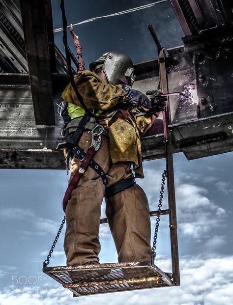 Ironworker Welding by Tblue