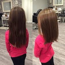 Perfect back to school haircut for little girl. Shoulder