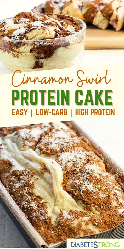 Easy Diabetic Meals, Healthy Recipes For Diabetics, Diabetic Desserts, Low Carb Desserts, Diabetic Recipes, Dessert Recipes, Healthy Cake, Healthy Snacks, Protein Cake