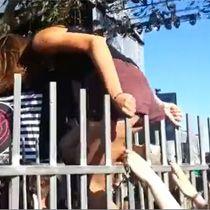 Watch Girl Wedgies Herself Jumping A Fence At Concert Weird News Funny Fails