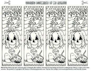 Halloween Coloring Bookmarks Coloring Bookmarks Halloween Coloring Halloween Art Projects