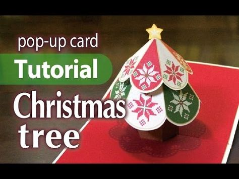 Tutorial Christmas Tree Pop Up Card Youtube Pop Up Card Templates Christmas Cards To Make Christmas Tree Cards