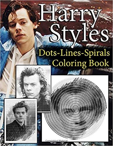 Harry Styles Dots Lines Spirals Coloring Book New Coloring Books For All Fans Of Harry Styles With Coloring Books Harry Styles Dotted Line