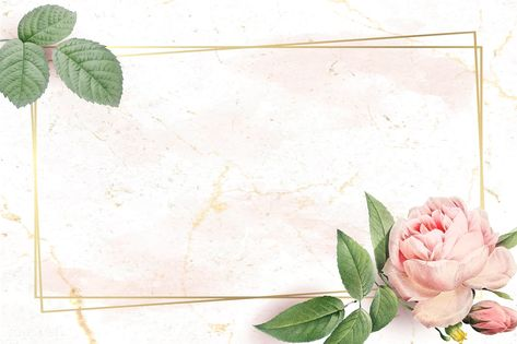 Floral rectangle golden frame vector | premium image by rawpixel.com / nunny