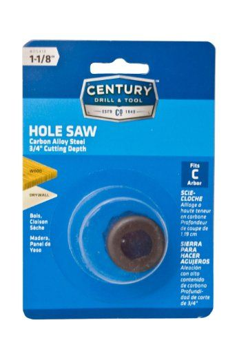 Century Drill And Tool 5418 Carbon Alloy Hole Saw 1 1 8 Inch Hole Saw Drill Vaseline Bottle