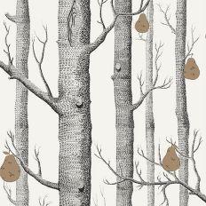 Papier Peint Woods Pears Foret Noire Blanche Et Poire Doree En 2020 Papier Peint Papier Peint A Fleurs Couleurs De Tollens