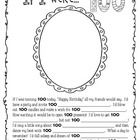A fun activity for the 100th Day of School. Included: * Fill-in-the-blank story and self portrait (at age 100) * I am 100 Days Smarter Coloring Pag...