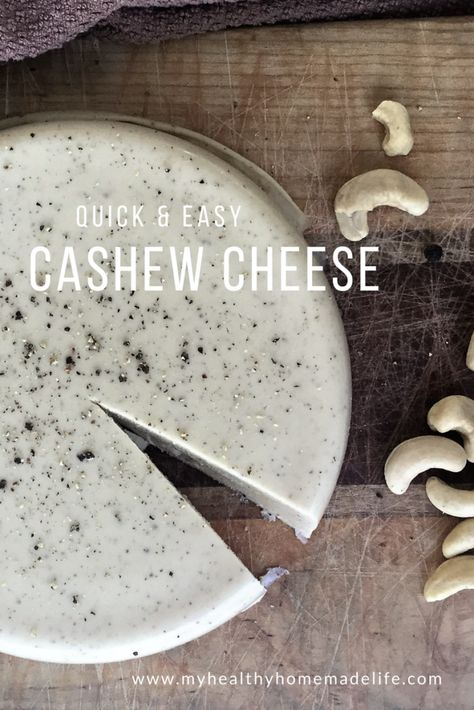 You won't believe how simple it is to make your own non-dairy & gluten free cashew cheese. If you're new to vegan cheese-making, this is the perfect starter recipe!  Quick & Easy Cashew Cheese