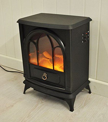 New Black 1800w Free Standing Electric Stove Fireplace Fire Heater Cast Effect Fireplaceandstove Stove Fireplace Electric Stove Fireplace Fired Heater