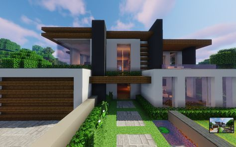 Modern House In 2020 With Images Minecraft Modern Mansion Modern Minecraft Houses Minecraft Modern Minecraft House Plans Minecraft Modern Mansion Modern Minecraft Houses